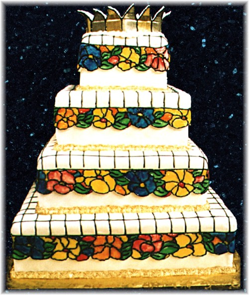 Tiffany Lamp wedding cake