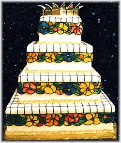 Tiffany Lamp wedding cake