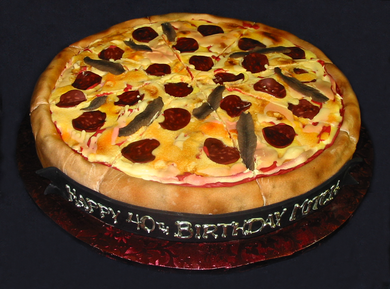 Pizza birthday cake