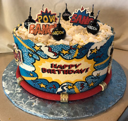Bomb birthday cake
