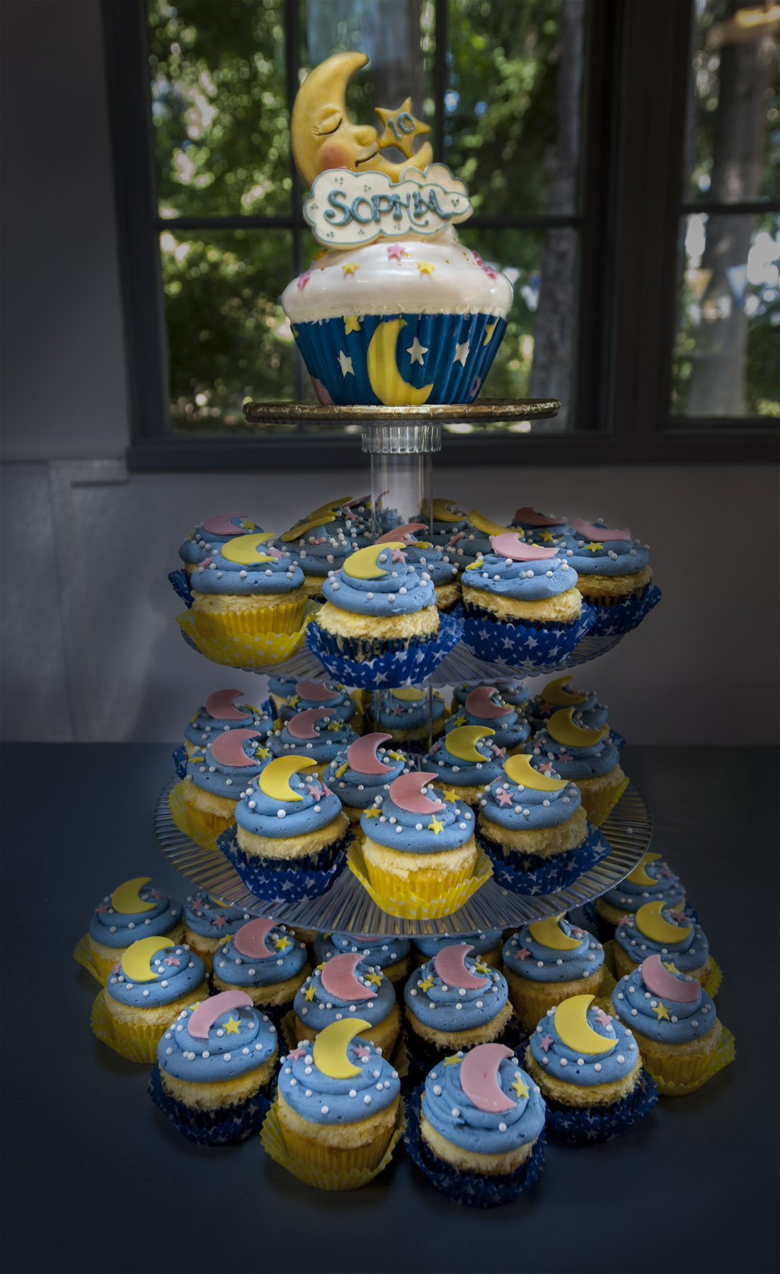 Moon and Stars cupcake tree