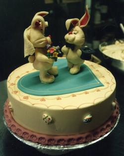 Easter engagement cake