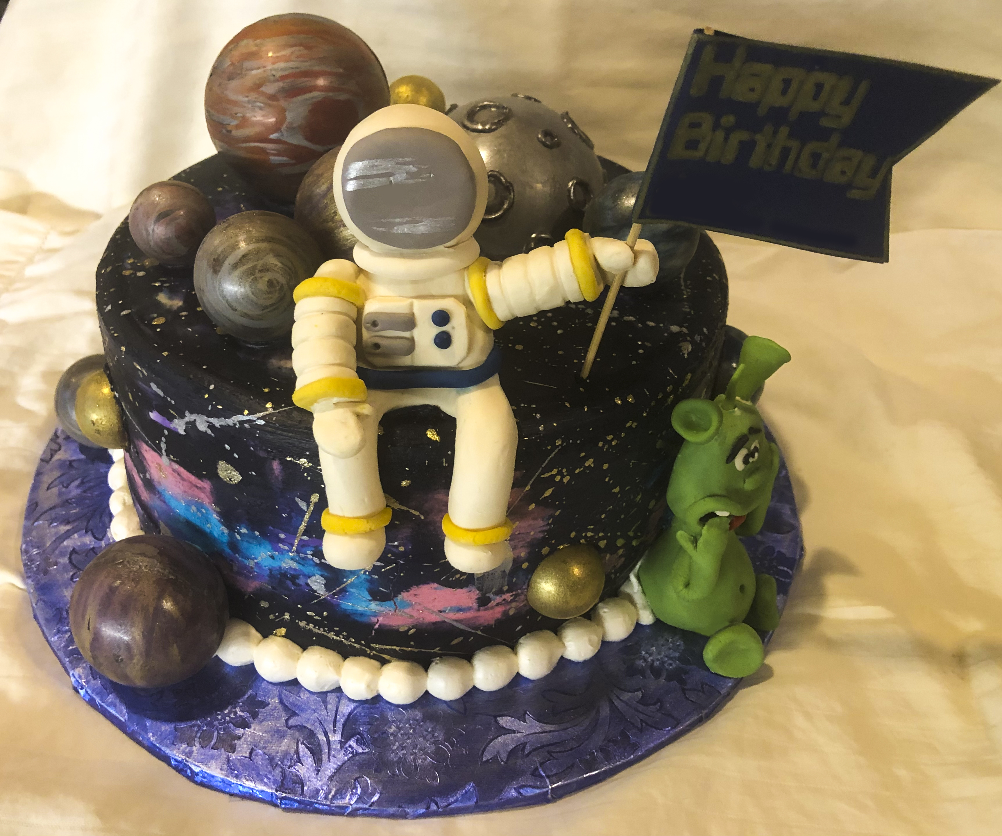 Space Birthday cake for Cake4Kids