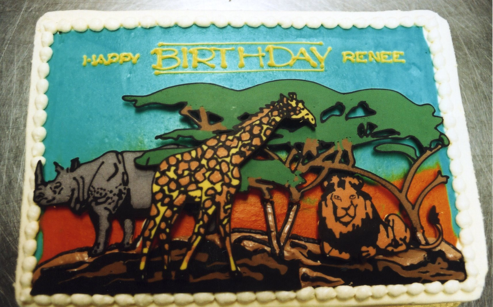 Serengeti birthday cake