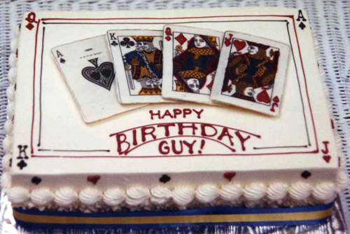 Poker Hand birthday cake