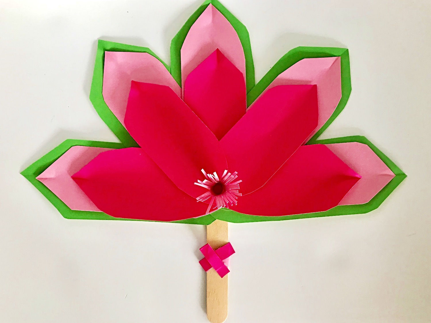Easy Paper Flower Fan