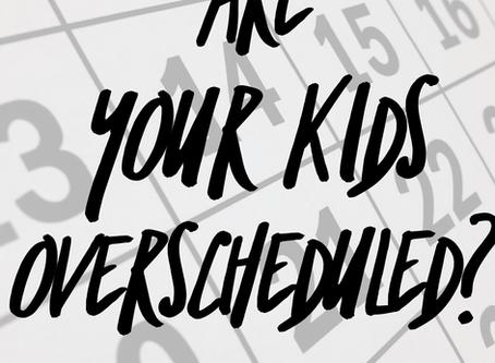 Helpful Mom: Over Scheduling