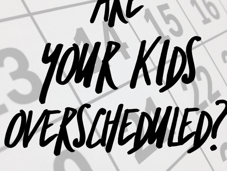Helpful Mom: Over Scheduling