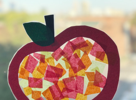 The Crafty Mom: Stained Glass Fall Apples