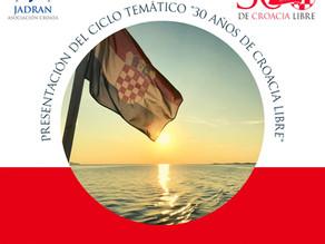 """Evento Virtual: 30/5 YouTube Live. """"Presentación del ciclo temático: 30 años de Croacia libre"""""""