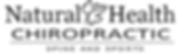 Natural Health Chiro logo BW.png