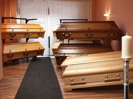 Sargausstellung bei ERKA Bestattungen in Erkelenz