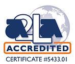 A2LA accredited symbol biotechnology company