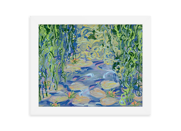 """Water Lily"" 00.5 Framed Poster"