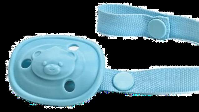 Prendedor de Chupetas Adoleta Bebê, Azul