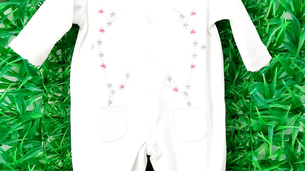 Macacão Geranios Baby Fashion