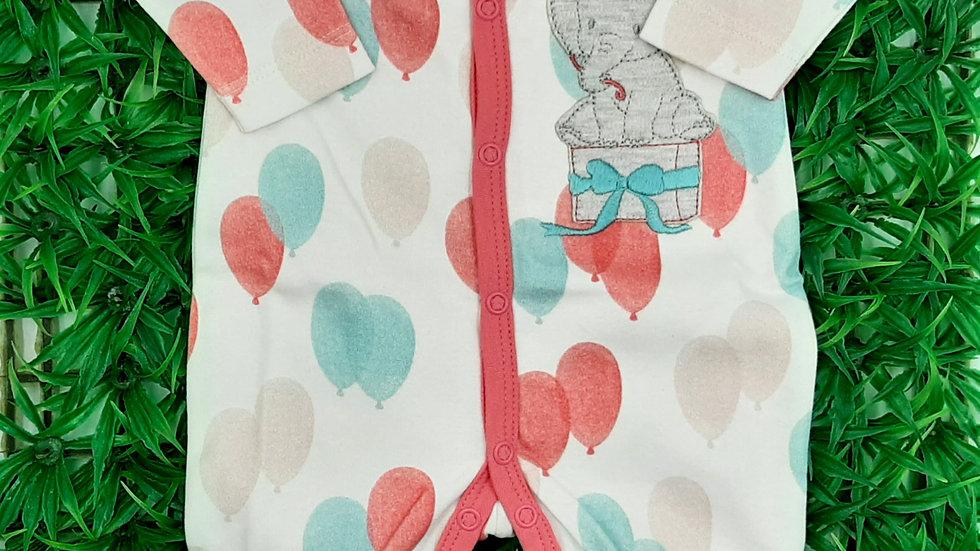 Macacão Longo Suedine Baloes Tilly Baby