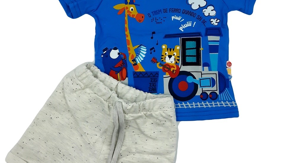 Conjunto  camiseta/bermuda Zig Zig Zaa