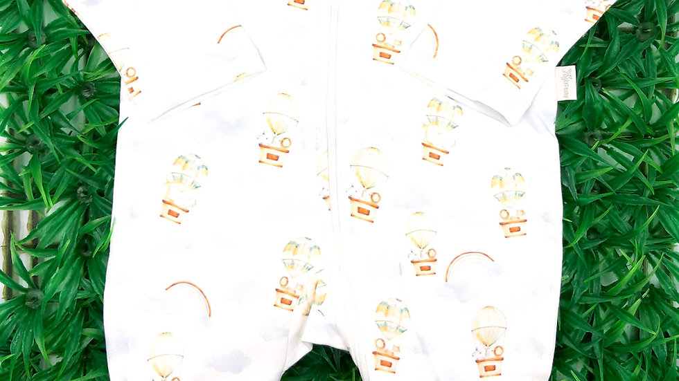 Macacão Unissex Estampado Baloes Anjos Baby