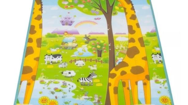 Tapete Infantil Ibimboo Dupla Face Girafa Abc
