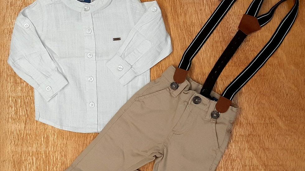Conjunto Camisa/Calça e Suspensório