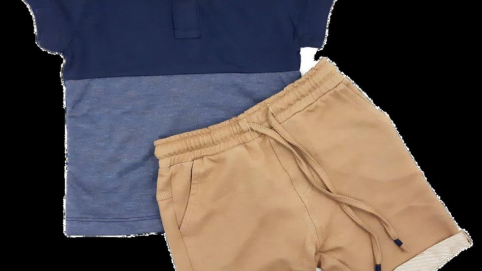 Camisa Polo Mc e Bermuda Locboo