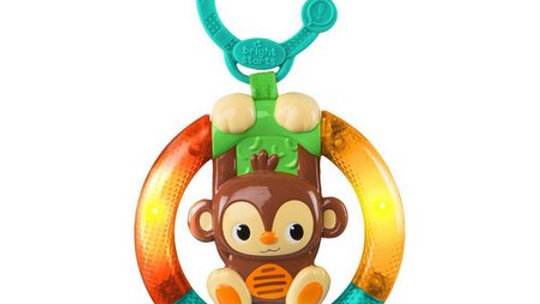 Brinquedo de Pendurar Shake & Glow Monkey - Bright Starts