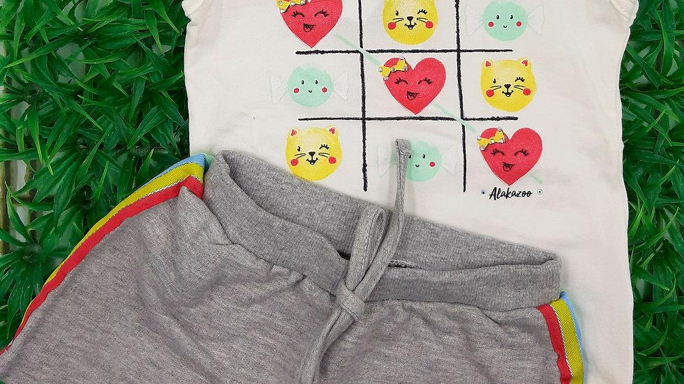 Conjunto camiseta Short-saia Alakazoo!