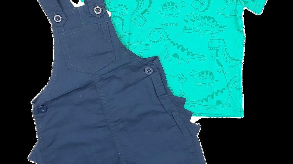 Conjunto camiseta/jardineira Zig Zig Zaa