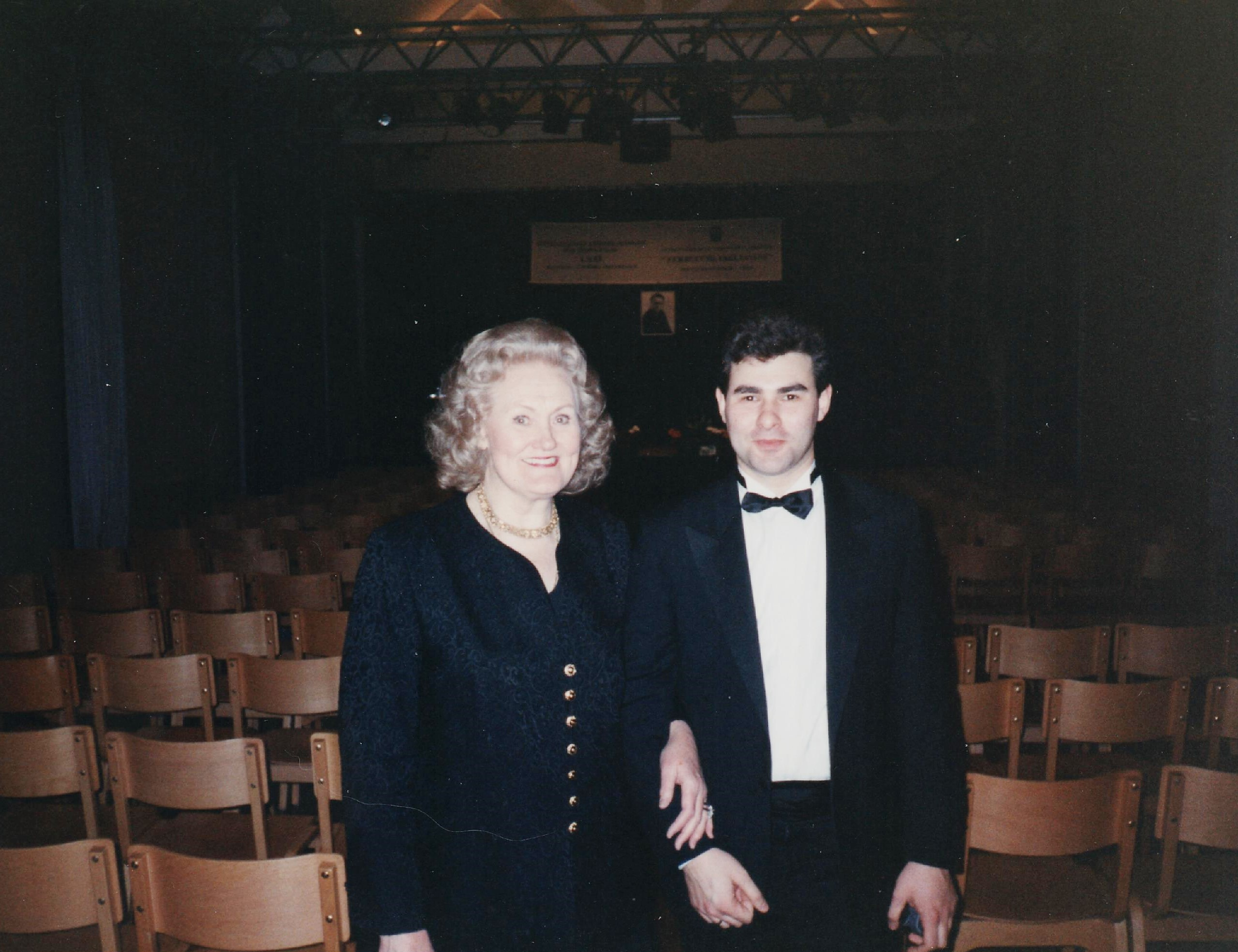con Dame Joan Sutherland