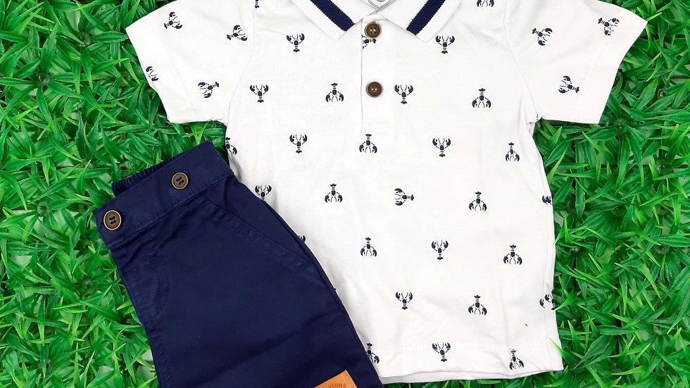Conjunto camisa/bermuda Carinhoso