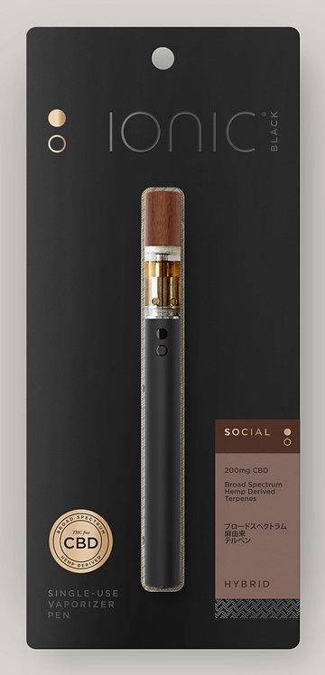 IONIC Black CBD Pen with Wood Tip