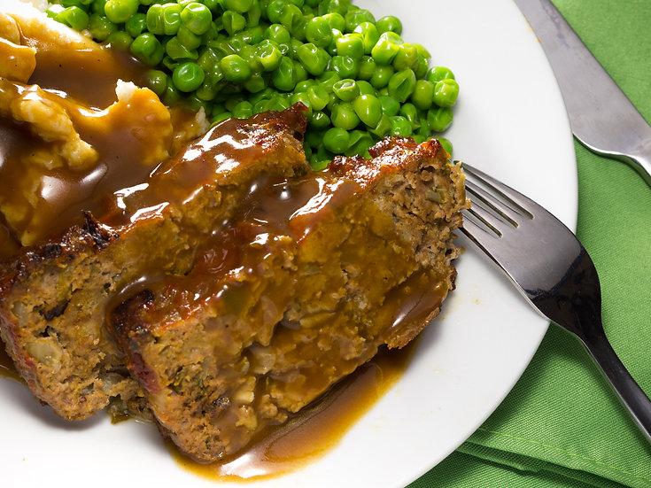 Mediterranean Meatloaf & Vegetables