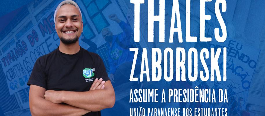 Thales Zaboroski assume a presidência da União Paranaense dos Estudantes.