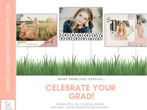 Graduation or Birthday Yard Signs 30x40