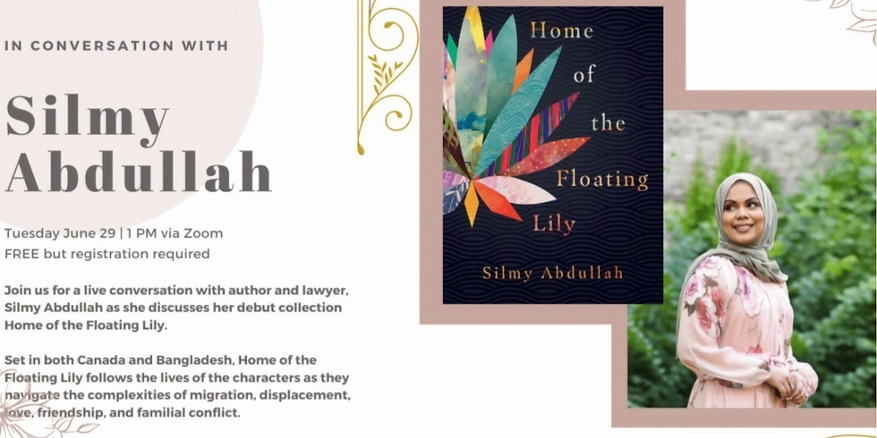 Diaspora Dialogues and Dundurn Press Present: In Conversation with Silmy Abdullah