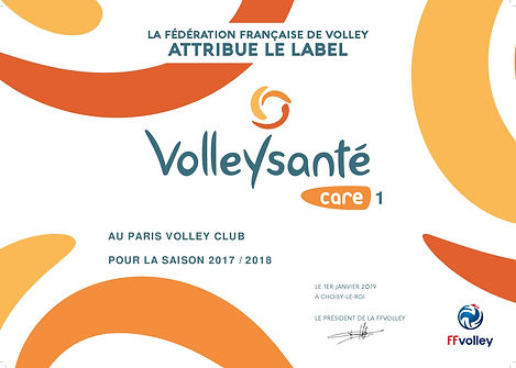 LABEL VOLLEY CARE - PARIS VOLLEY CLUB-00