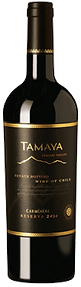 Bottle of wine, tamaya reserva carmenere winery