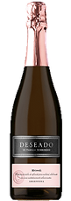 Bottle of sparkling wine, champagne, deseado rose , schroeder winery