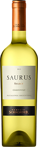 Bottle of wine, Saurus select chardonnay schroeder winery