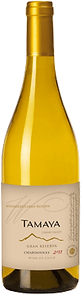 Bottle of wine, tamaya winemaker's gran reserva chardonnay winery