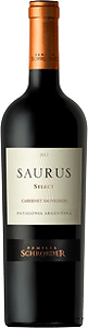 Bottle of wine, saurus select cabernet sauvignon schroeder winery