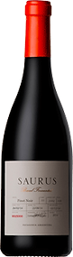 Bottle of wine, saurus barrel fermented pinot noir schroeder winery