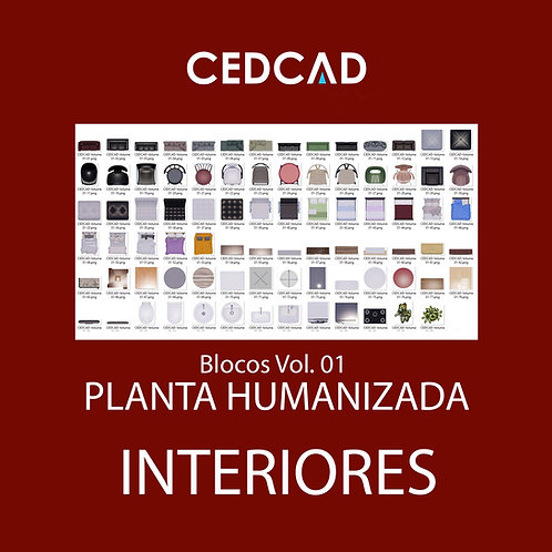 Blocos Para Planta Humanizada Vol. 1 – Interiores
