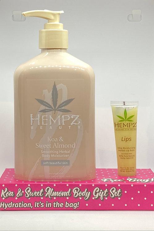 Hempz Body Lotion + Lip Balm Gift Set