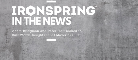 Managing Partners Adam Bridgman and Peter Holt named to BuiltWords Insights 2020 Mavericks List