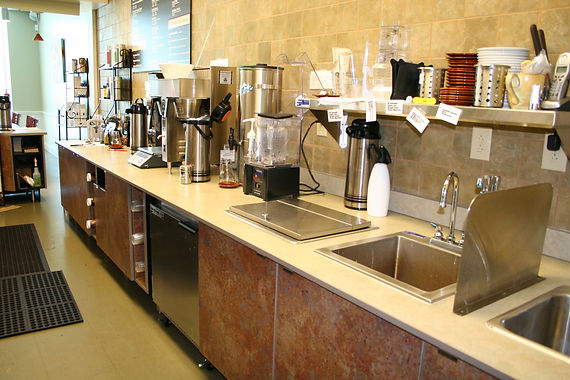 Cafe Smoothies and Coffee Counter