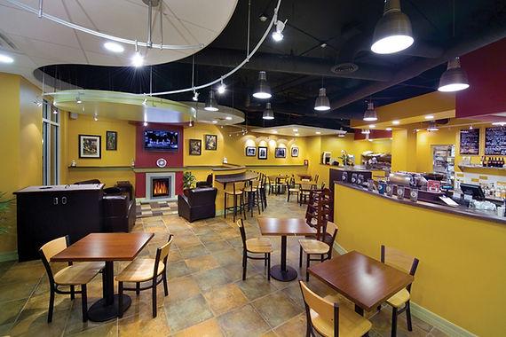 Cafe Lighting in Customer Area