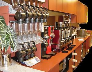 Coffee Shop Bean Display