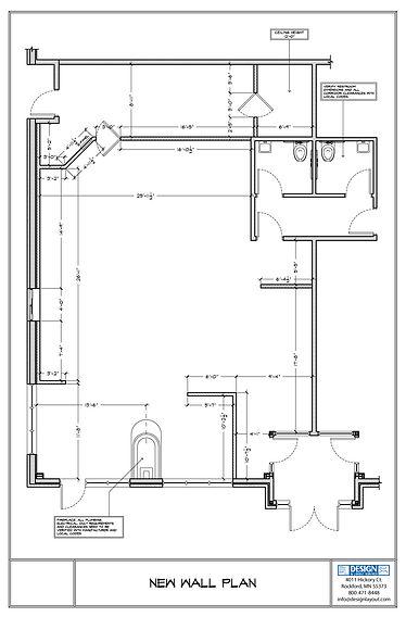 Coffee Shop New Wall Plan